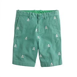Boys' Stanton short with skull and crossbones critters