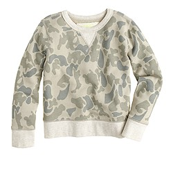 Boys' sweatshirt in faded camo