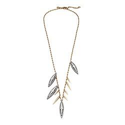 Long crystal floret necklace