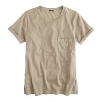 Rolled-sleeve pocket T-shirt