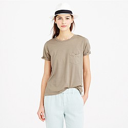 Rolled-sleeve pocket T-shirt