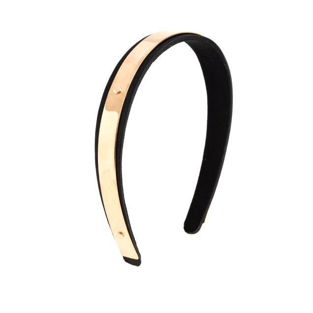 Gold plate headband