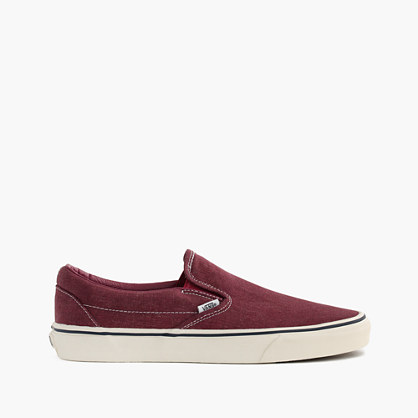 Vans® for J.Crew washed canvas classic slip-on sneakers
