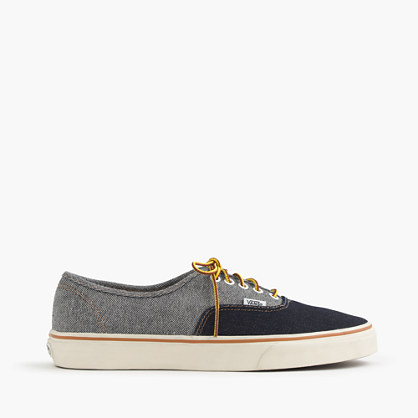 Vans® for J.Crew two-tone denim authentic sneakers