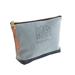 Suolo ™ canvas and suede pouch