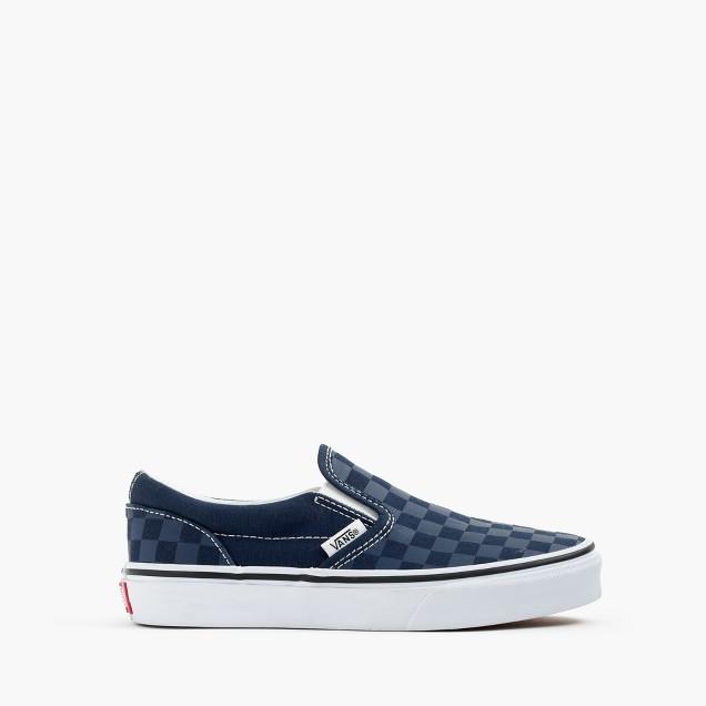 Boys' Vans® slip-on sneakers in checkerboard