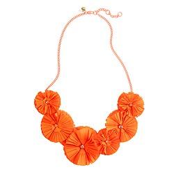 Girls' fringe flower necklace