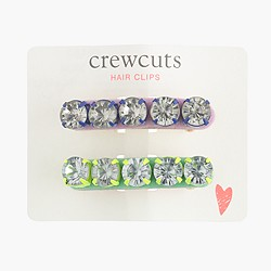 Girls' crystal barrette