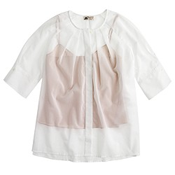 Collection Thomas Mason® for J.Crew cotton voile peasant top