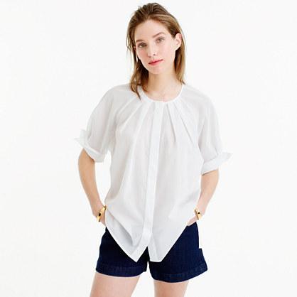 Collection Thomas Mason® for J.Crew cotton voile peasant top