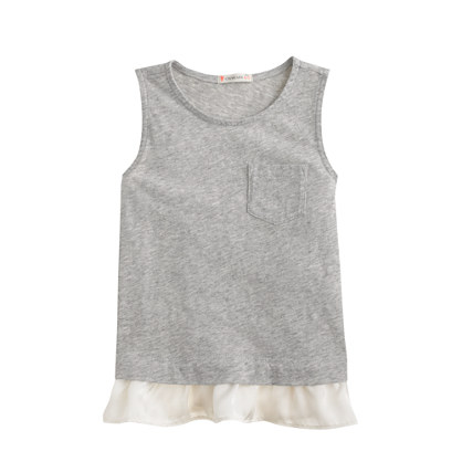 Girls' ruffle tank top