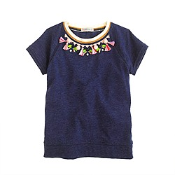 Girls' tassel necklace T-shirt