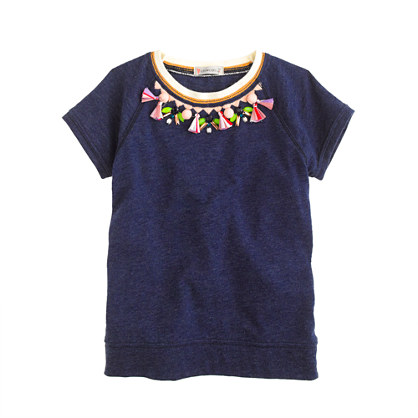 Girls' tassel necklace tee