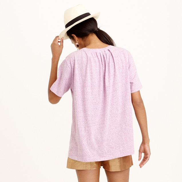 Pleated-back T-shirt