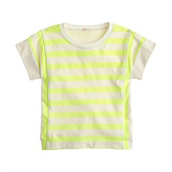 Girls' Two-way stripe T-shirt