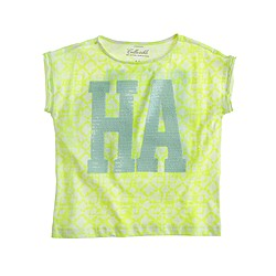 Girls' sequin Ha T-shirt