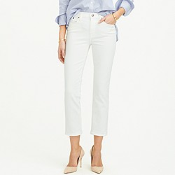 Vintage cropped jean in white