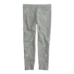 Girls' everyday leggings in splatter print