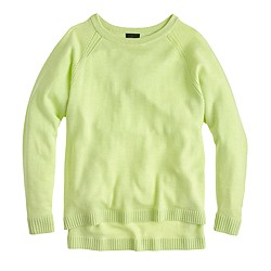 Collection cashmere pointelle boyfriend sweater