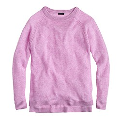 Italian cashmere pointelle boyfriend sweater