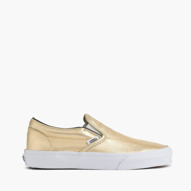 Vans® for J.Crew classic slip-on sneakers in metallic