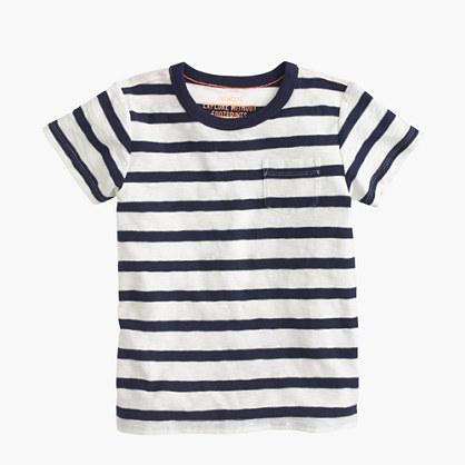 Boys' T-shirt in classic stripe