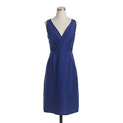 Liza dress in slub silk