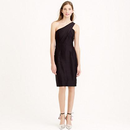 Cassie dress in slub silk