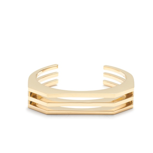 Sliced cuff bracelet