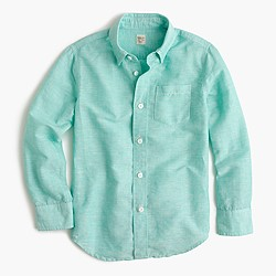 Kids' linen-cotton shirt