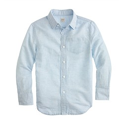 Boys' linen-cotton shirt