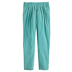 Pull-on pleated pant