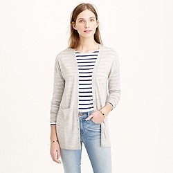 Italian featherweight cashmere pocket cardigan sweater