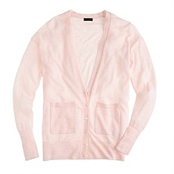 Collection featherweight cashmere pocket cardigan sweater