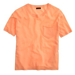 Italian featherweight cashmere pocket T-shirt