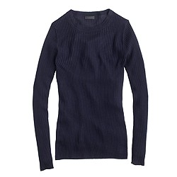Collection featherweight cashmere three-quarter sleeve ribbed T-shirt
