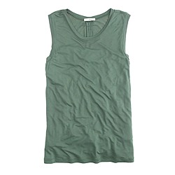 Drapey sleeveless T-shirt