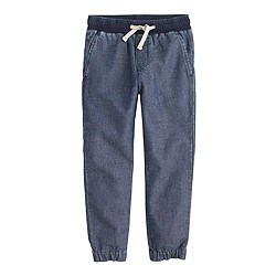 Boys' Sideline pant in chambray