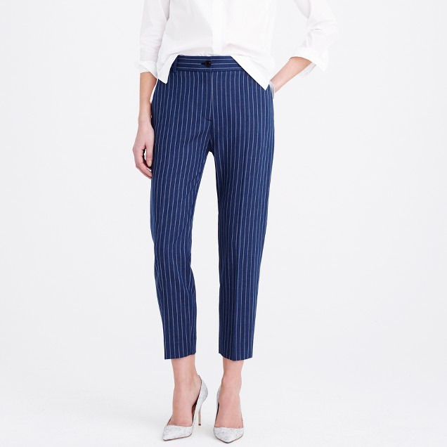 Collection women's Ludlow pant in pinstripe Italian wool