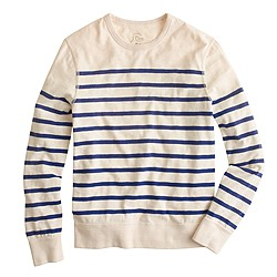 Heavyweight T-shirt in engineered stripe