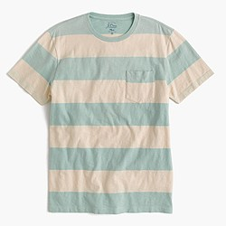 Pocket T-shirt in sun-faded surf stripe