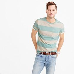 Tall pocket T-shirt in sun-faded surf stripe