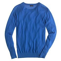 Italian featherweight cashmere rib-trim sweater