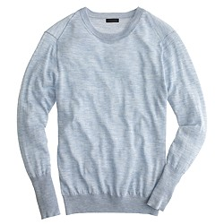 Italian featherweight cashmere rib-trim sweater