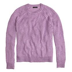 Metallic side-slit sweater