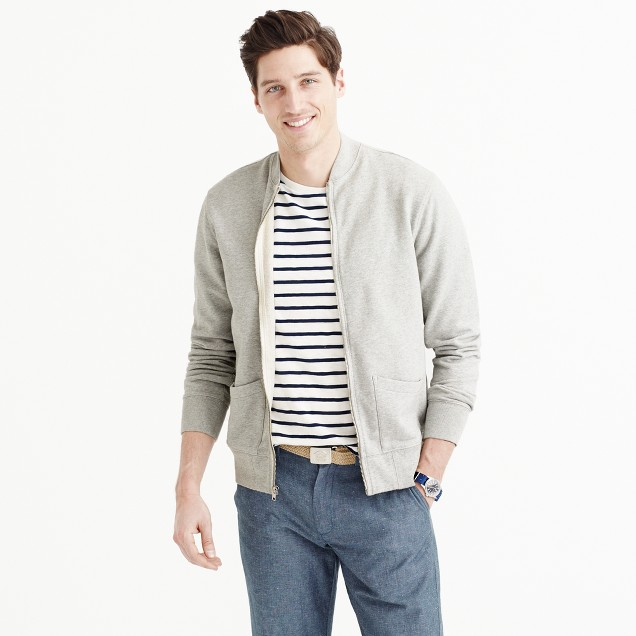Wallace & Barnes fleece baseball jacket : | J.Crew
