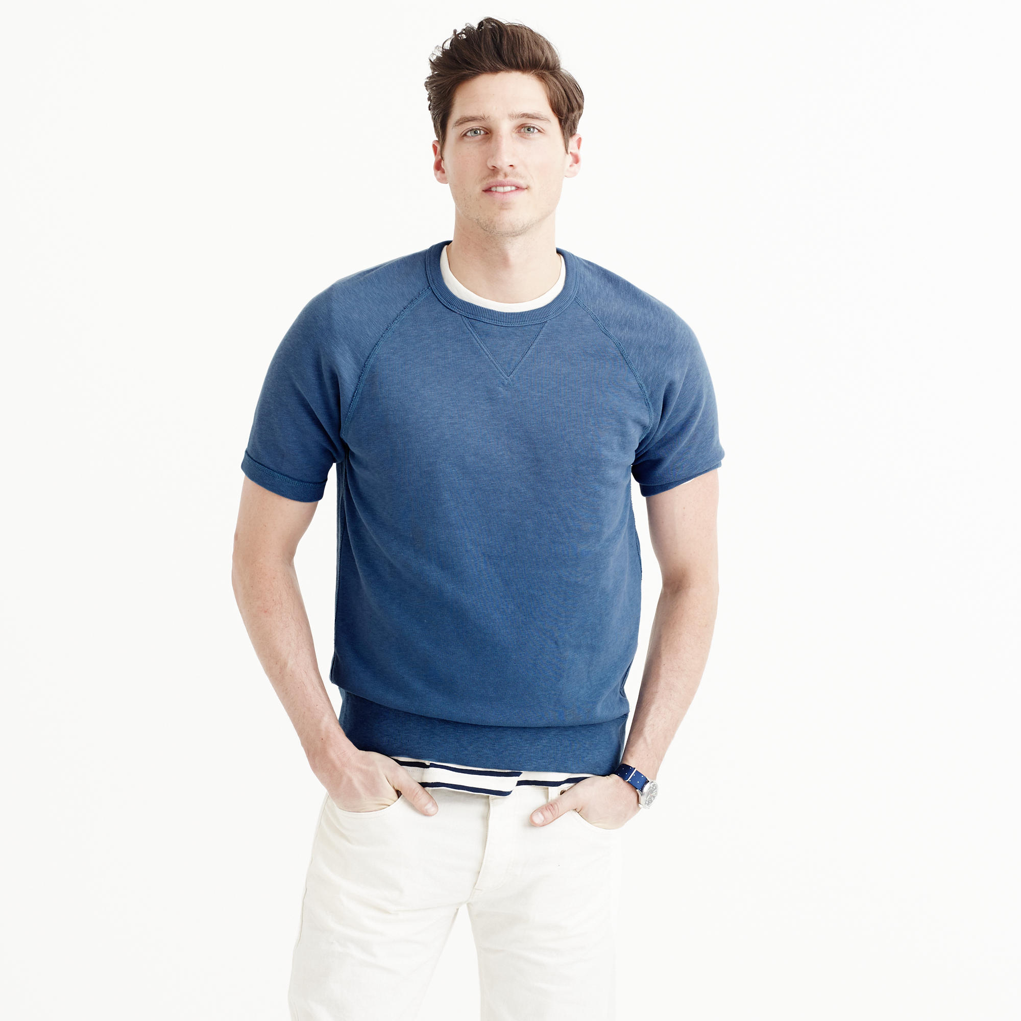 Sun-faded short-sleeve sweatshirt : Men sweatshirts | J.Crew