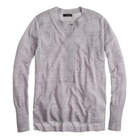 Grommet henley sweater
