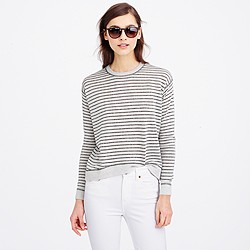 Merino wool metallic-striped sweater