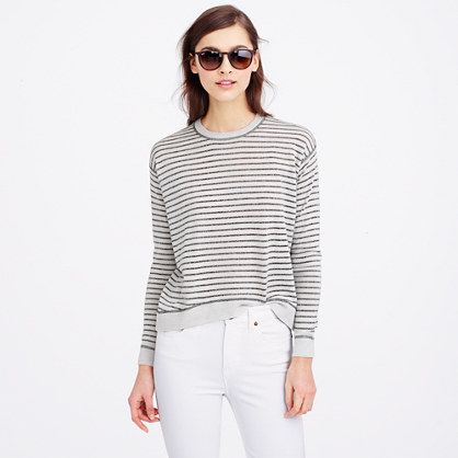 c61cd1c487 Merino wool metallic-striped sweater